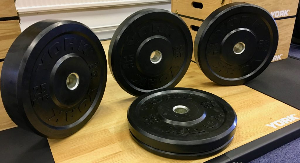 York Black Olympic Bumper Plates1